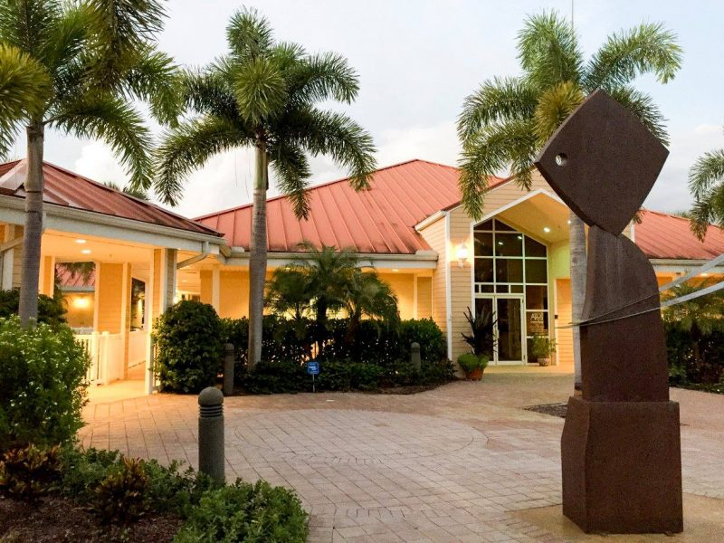 Outside view of the Centers for the Arts in Bonita Springs, FL